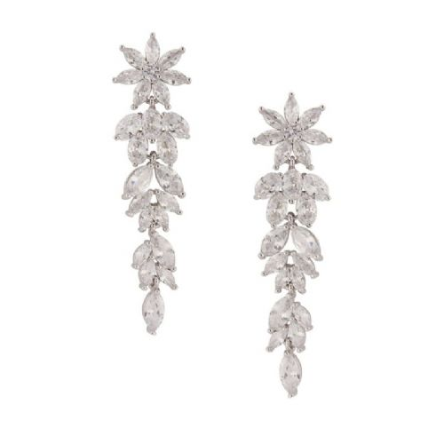 CZ Crystal Chandelier Bridal Earrings